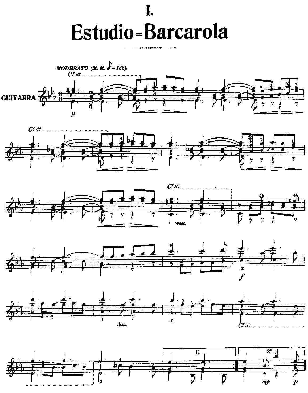 船歌单簧管谱子