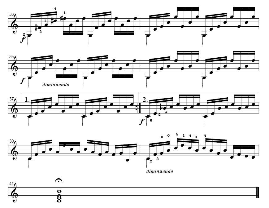 魅力古典吉他 C大调前奏曲