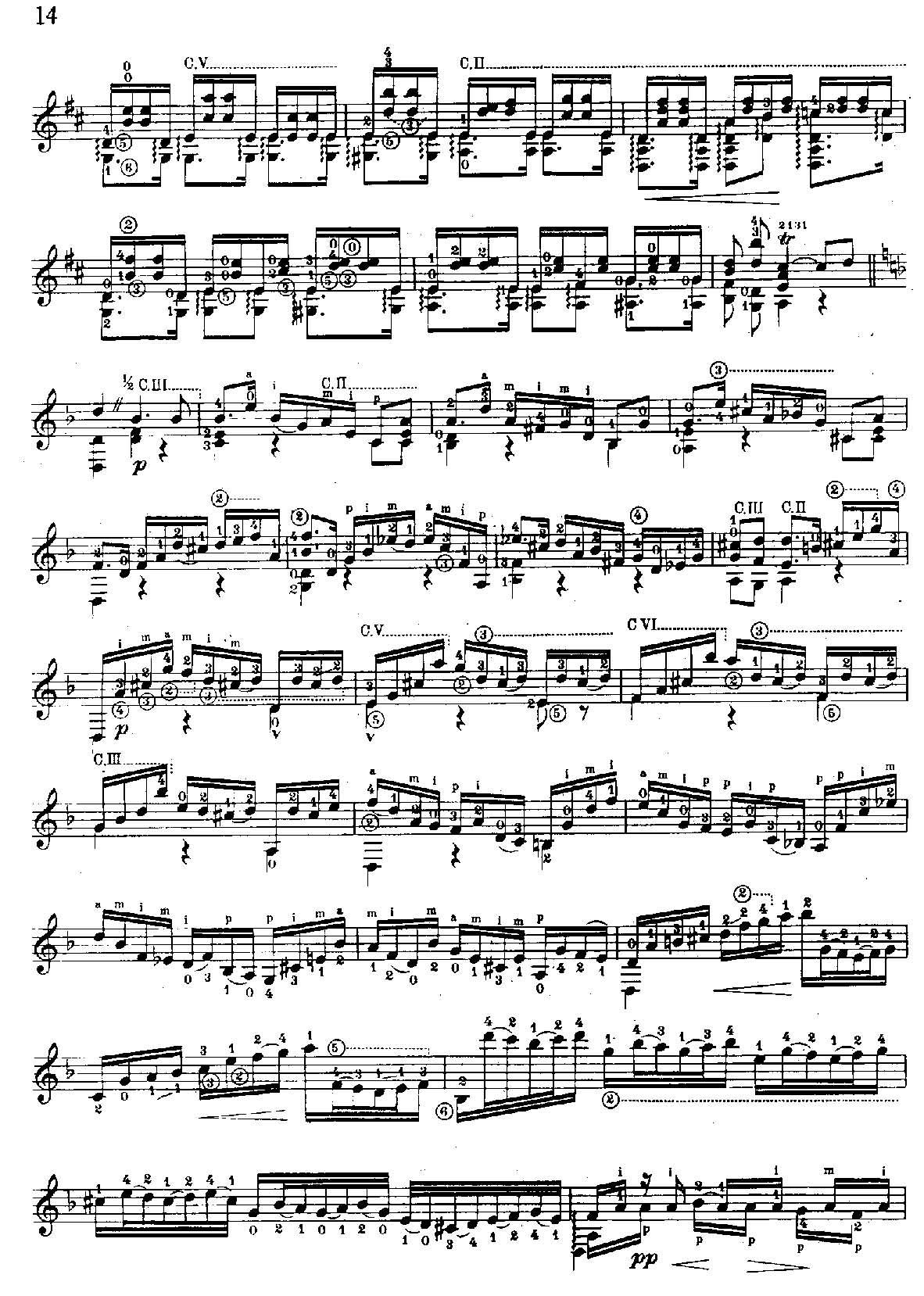 恰空舞曲,巴赫无伴奏小提琴组曲第二号(bwv1004),塞戈维亚改编