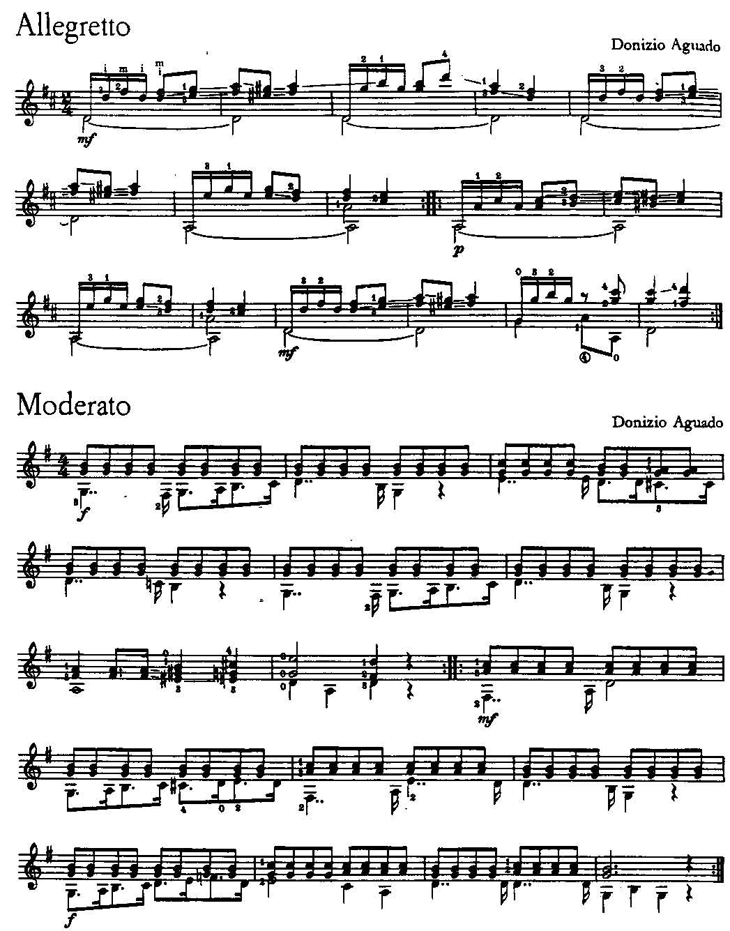 吉他小步舞曲的谱子